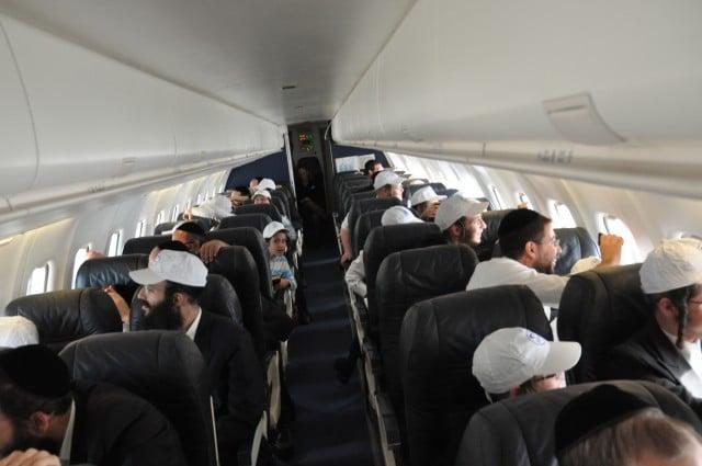 הזוכים בהגרלה בשעת הטיסה