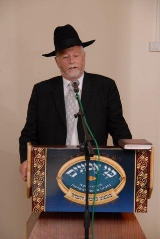 יו''ר הארגון הנגיד הר''ר יעקב דב מרמורשטיין נושא דברים