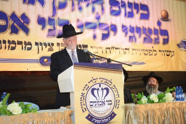 יו''ר הארגון הרב יעקב דב מרמורשטיין נושא דברים
