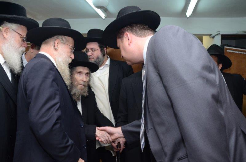 """הר''ר זאב מרמורשטיין עם מרן הגראי''ל שטיינמן שליט""""א"""
