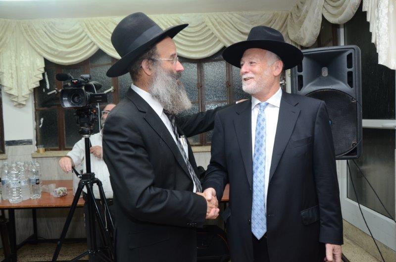 יו''ר הארגון עם הרב אברהם רובינשטיין מזכיר מועצגה''ת